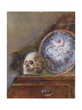 Skull and Plate Giclee Print by Gail Schulman