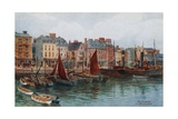 Plymouth, the Barbican Giclee Print by Alfred Robert Quinton