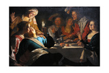 Merry Company, 1622 Giclee Print by Gerrit van Honthorst