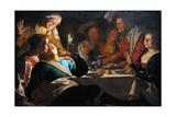 Merry Company, 1622 Lámina giclée por Gerrit van Honthorst