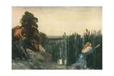 Pan Did after Syrinx Speed Giclee Print by Robert Anning Bell