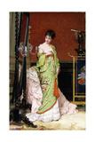 The Green Kimono, 1876 Giclée-Druck von Frans Verhas