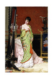 The Green Kimono, 1876 Giclee Print by Frans Verhas
