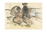 Figure Study: Two Women Seated on a River Bank Giclee Print by Philip Wilson Steer