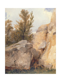 In the Forest of Fontainebleu, C.1825 Giclee Print by Richard Parkes Bonington