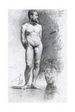 Academic Male Nude with a Grecian Urn, 1883 Giclee Print by Joaquín Sorolla y Bastida