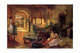 An Oriental Interior, 1900 Giclee Print by Frederick Arthur Bridgman