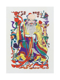 God of Longevity, C.1980S Giclee Print