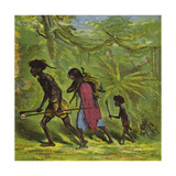 Ashanti Family Out for the Day Giclee Print by Ernest Henry Griset