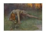 The Death of Siegfried Giclee Print by Hermann Hendrich