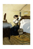 She Was Going to Let Down Her Hair Giclee Print by Gordon Frederick Browne