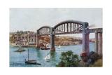 Plymouth, Royal Albert Bridge, Saltash Giclee Print by Alfred Robert Quinton
