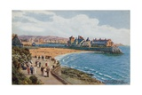 Weston-Super-Mare, Knightstone Pier and Two Bays Giclee Print by Alfred Robert Quinton