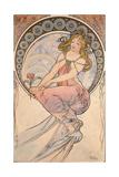 Alphonse Mucha - La Peinture, 1898 Digitálně vytištěná reprodukce