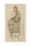 French Chief, Start of the 12th Century Giclee-trykk av Raphael Jacquemin