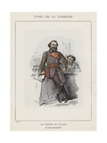 Le Prefet De Police, Le Citoyen Raoul Rigault Giclee Print by Charles Albert d'Arnoux Bertall