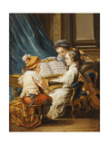 The Four Arts - Music Giclee Print by Carle van Loo