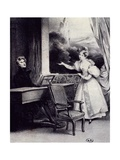 At Piano Giclee Print by Achille Deveria