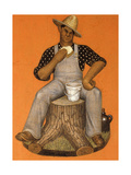 Hired Man Giclee Print by Grant Wood