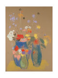 Three Vases of Flowers, C.1908-10 Giclee Print by Odilon Redon