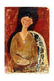 Beatrice Hastings Seated, 1915 Giclee Print by Amedeo Modigliani