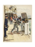 Gun Drill During the Naval Manoeuvres, 1891 Giclee Print by Henry Payne