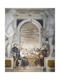 Card Games Giclee Print by Giovanni Antonio Fasolo