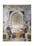 Card Games Giclee Print by Giovanni Antonio Fasolo