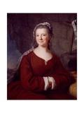 Portrait of Madame De Tencin Giclee Print by Antoine Coypel