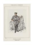 Officier De Marine, Le Commandant Durassier Giclee Print by Charles Albert d'Arnoux Bertall