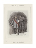 Ferre and Ses Executeurs Giclee Print by Charles Albert d'Arnoux Bertall