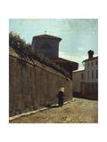 Street in the Sun, 1863-1864 Giclee Print by Giuseppe Abbati