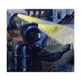 Nemo Wrote Atlantis in Chalk Stone Giclee Print