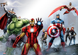 Marvel - Group Foil Poster Photographie