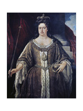 Portrait of Queen Anne, C.1702 Giclee Print by Johann Closterman