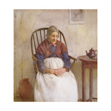Study of an Elderly Lady Giclee Print by Frederick James McNamara Evans