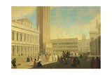 The Piazzetta, Venice Giclee Print by Luca Carlevarijs