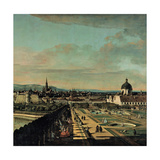 View of Vienna from the Belvedere, 1759-1760 Giclee Print by Bernardo Bellotto