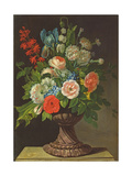 Still Life with Flowers Giclee Print by Jens Juel