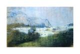 Landscape, 1897 Giclee Print by Gaetano Previati