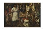 Butcher's Shop Giclée-tryk af Annibale Carracci