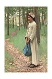 Girl with Bindle Giclee Print by Louis Welden Hawkins