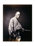 A Japanese Samurai, C.1864-1866 Giclee Print by Felice Beato