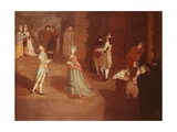 Dance Rehearsal Giclee Print by Pietro Longhi