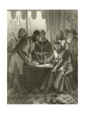 King John Signing Magna Carta, 1215 Giclee Print by Alonzo Chappel