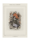 La Barricade Giclee Print by Charles Albert d'Arnoux Bertall