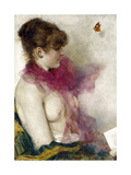 The Silk Scarf Giclee Print by Vittorio Matteo Corcos