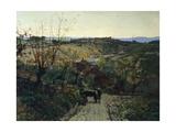 Tuscan Landscape Reproduction procédé giclée par Telemaco Signorini