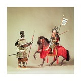 Models of Late 16th Century Japanese Warriors Giclee Print