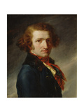 Portrait of a Man in Blue Clothes Giclee Print by Anne Louis Girodet de Roucy-Trioson